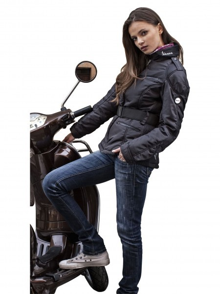 original vespa damen nylonjacke schwarz gr xl ebay. Black Bedroom Furniture Sets. Home Design Ideas
