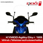 SPEEDS Windschild für Kymco Agility City+ 50/125 mit Haltesatz