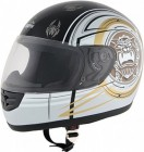 ROADSTAR Integral-Helm  Mini , Dekor Nightmare weiß