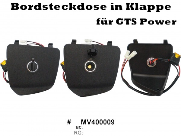 bordsteckdose gep ckfachblende vespa gt gts gtv 125 300. Black Bedroom Furniture Sets. Home Design Ideas