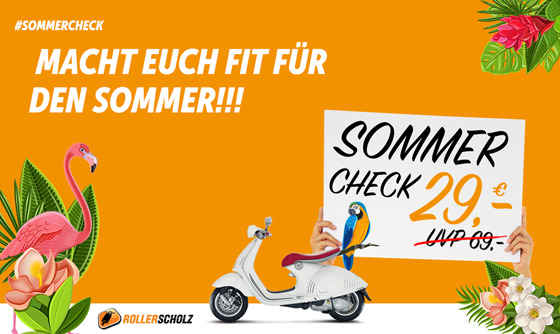 Roller Scholz Sommercheck ab 29 Euro