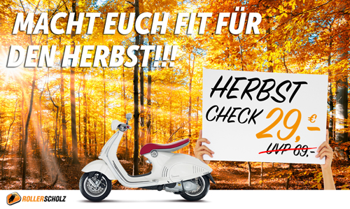 Roller Scholz Herbstcheck ab 29 Euro